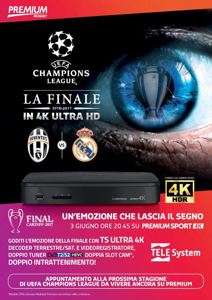 LOCANDINA MEDIASET TS ULTRA 4K finale Juventus Real