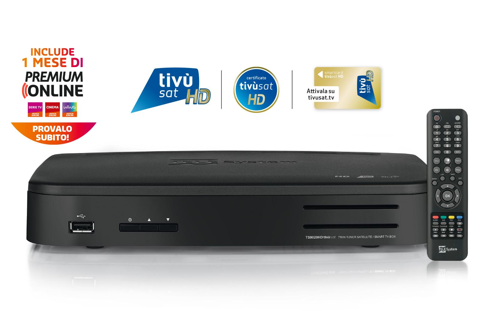 TS9020HD decoder tivùsat Premium