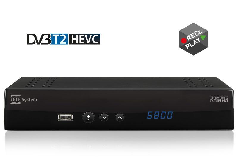 TS6800: ricevitore DVBT2 HEVC