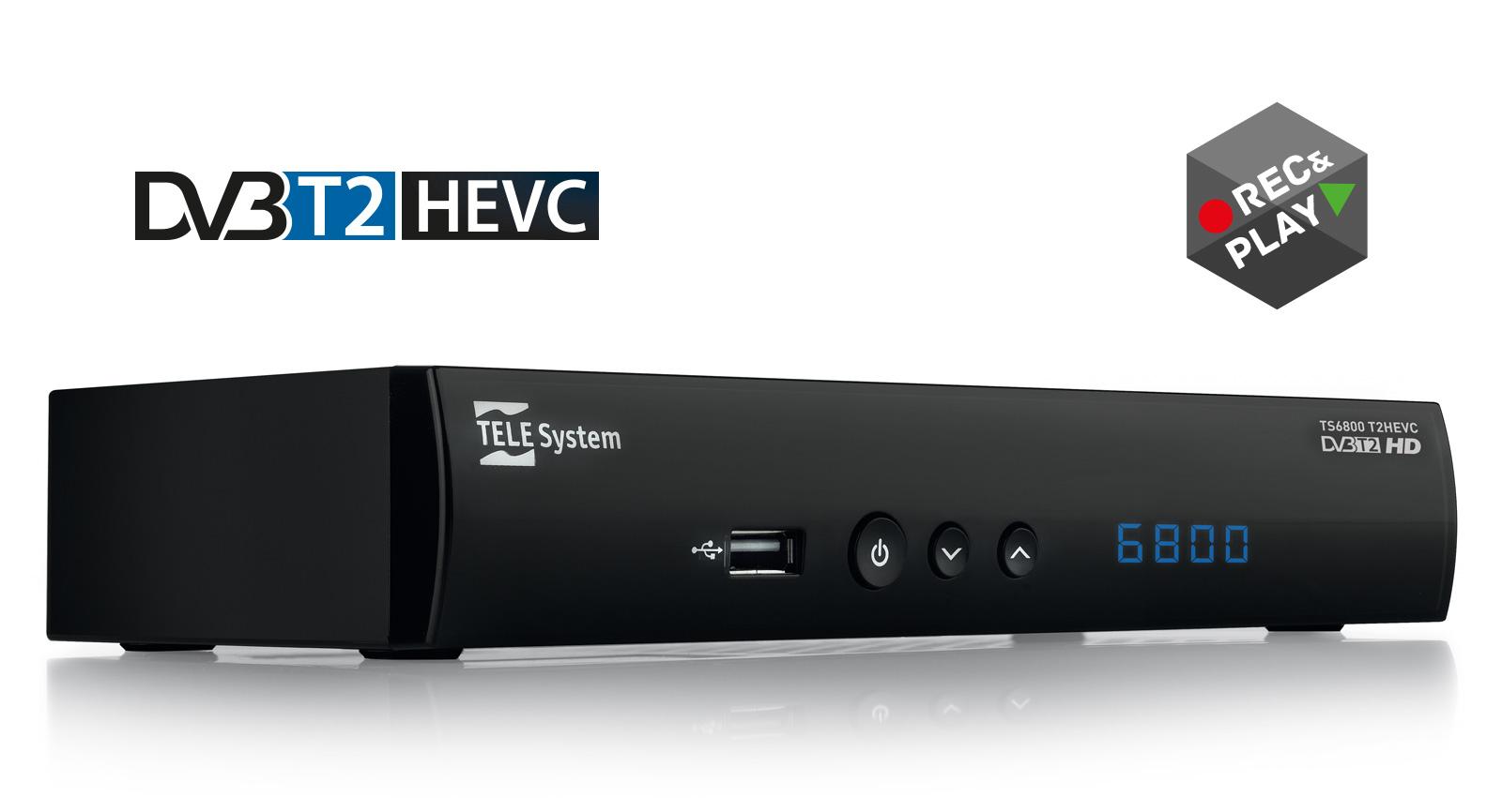 Digital terrestrial receiver TS6800 T2HEVC