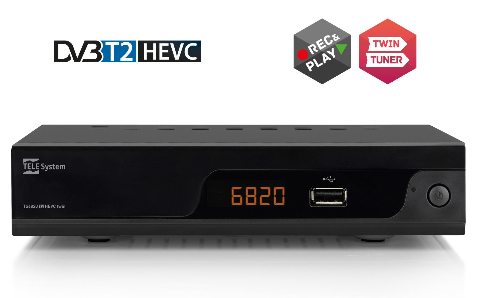 Twin Digital Terrestrial Tuner HD H.265 – Videorecorder and Mediaplayer