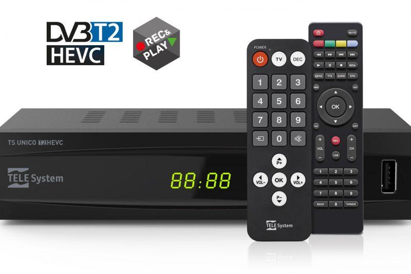 TS UNICO DVB-T2 HEVC