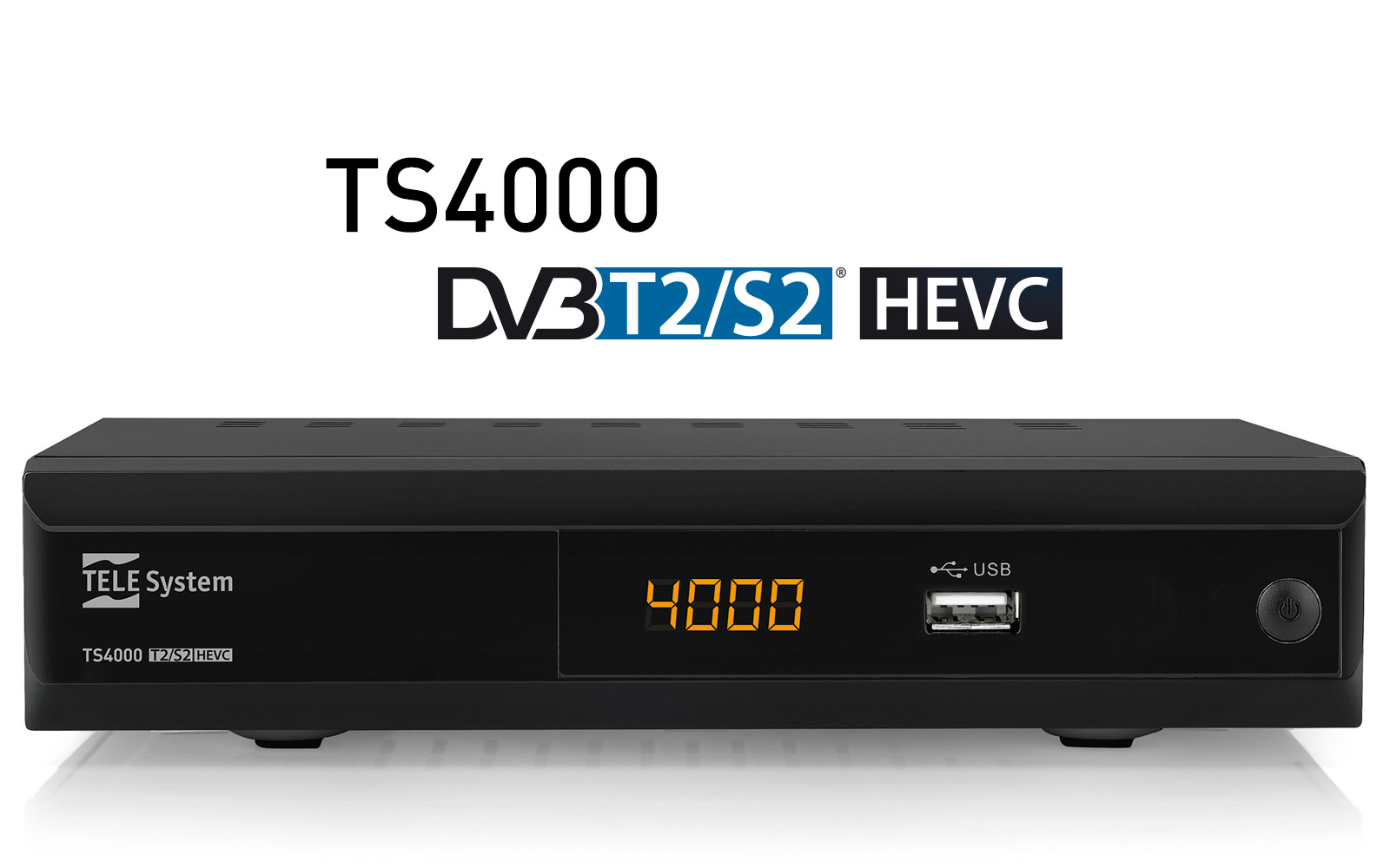 Decoder TS4000 DVBT2 DVBS2 HEVC