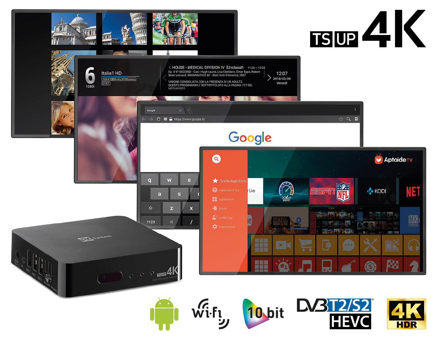Decoder Smart TV Ultra HD TS UP 4K