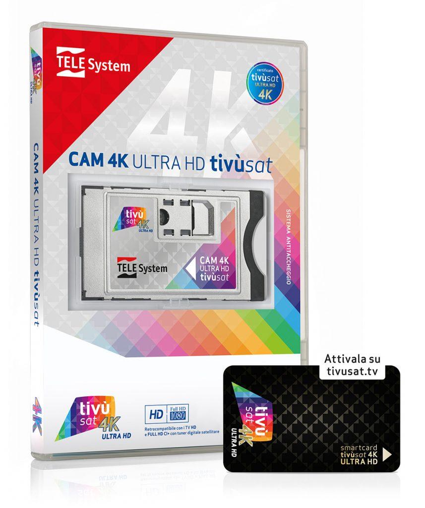 CAM 4K ultra HD tivùsat