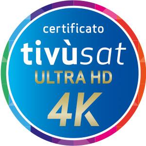 Certificato UHD 4K tivùsat