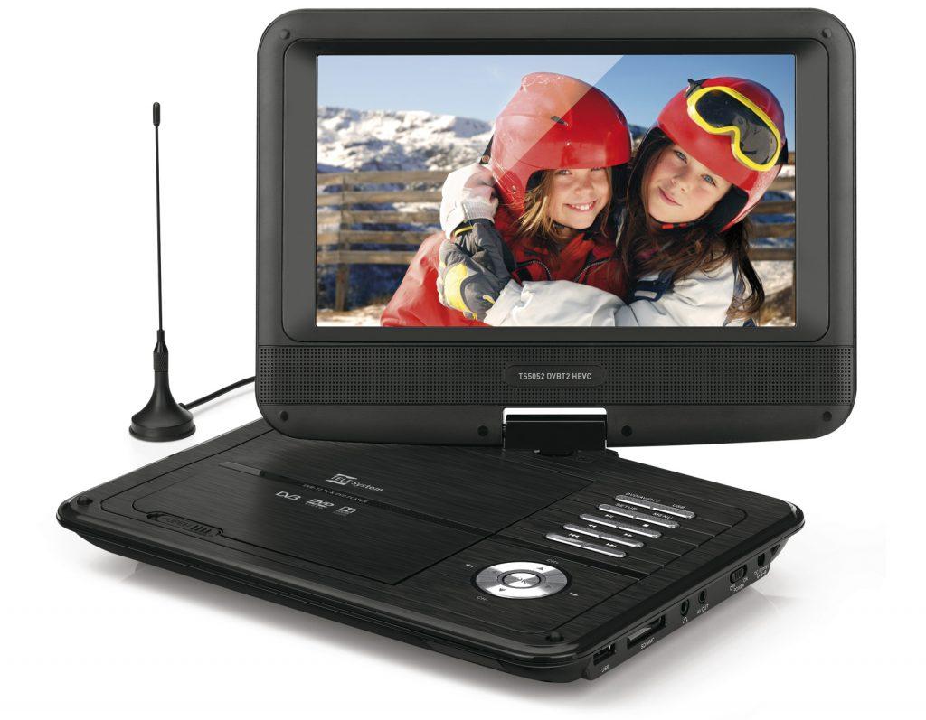 Lettore DVD e TV portatile DVB-T2 HEVC