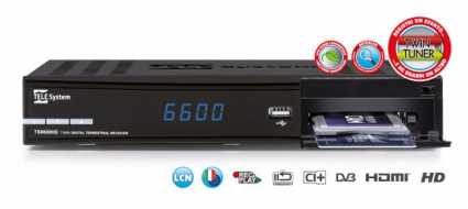 Decoder TS6600 HD doppio tuner, CI+