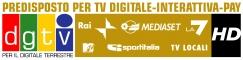 Predisposto per la TV digitale interattiva Pay