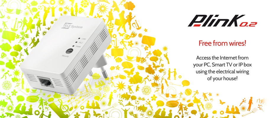 Free from wires with powerline P-link0.2