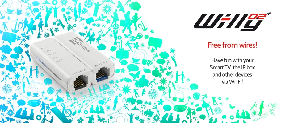 Free from wires with Wi-lly 0.2 Plus