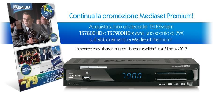 Promozione 2013 -79€ Mediaset Premium