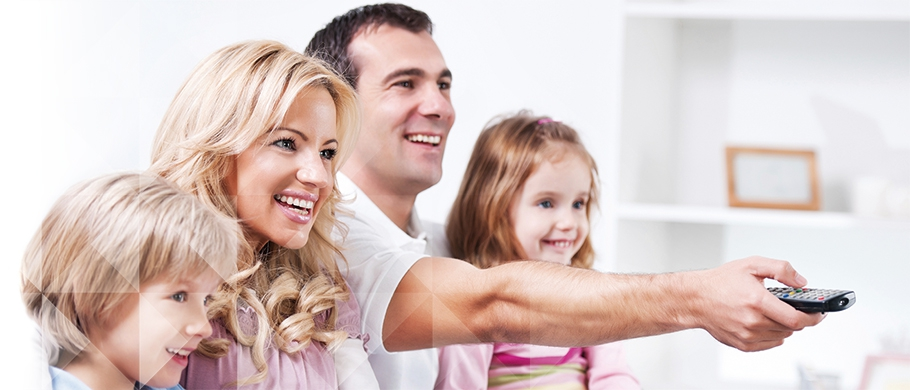 Famiglia decoder TV