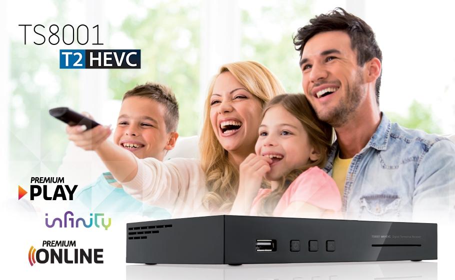 Decoder DVB-T2 HEVC TS8001