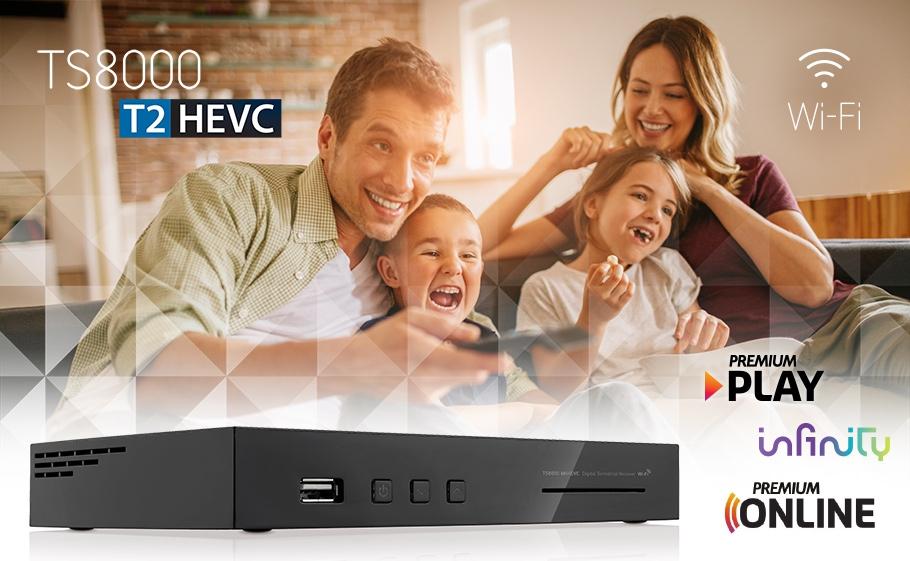 TS8000 DVBT2 HEVC WiFi