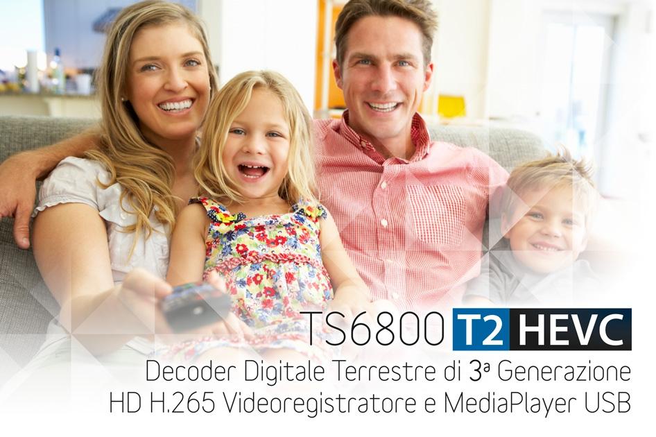 TS6800 T2HEVC decoder di terza generazione