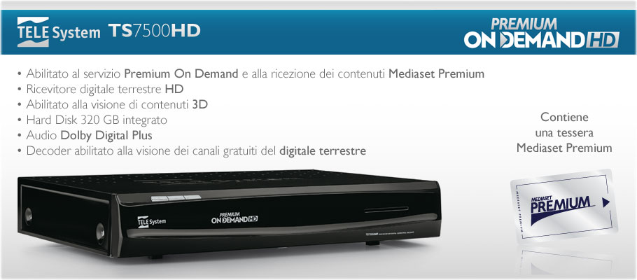Aggiornamento build 4 ts7500hd premium on demand for Premium on demand