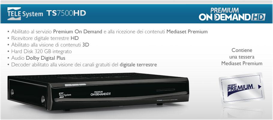Decoder per Mediaset Premium On Demand HD, Premium Calcio HD, Premium Cinema HD e canali free