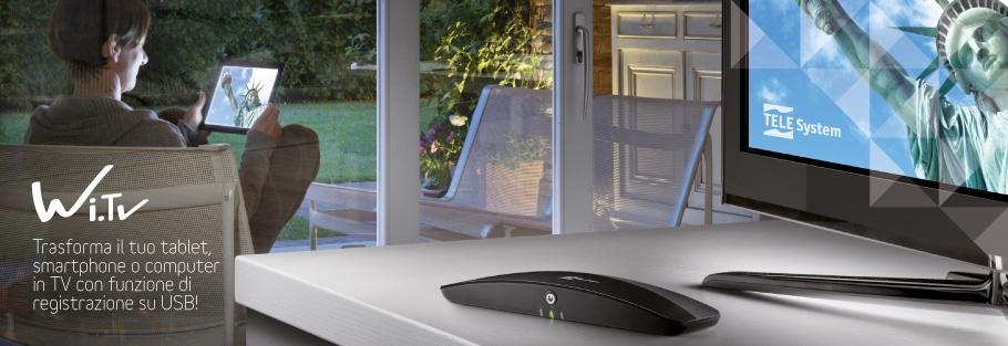Wi.TV: Trasforma il tuo tablet, smartphone o computer in TV con registrazione USB