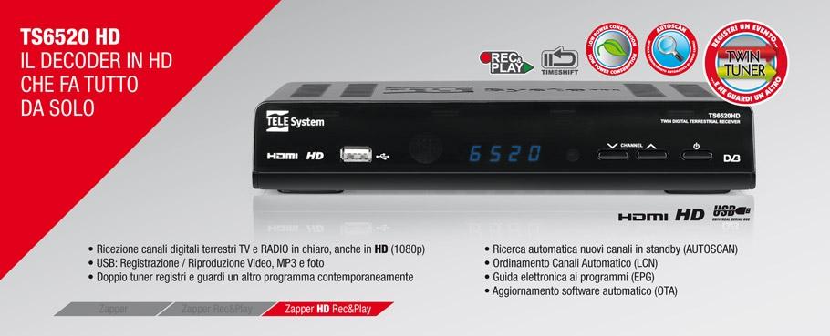 TS6520 HD: il decoder in HD che fa tutto da solo