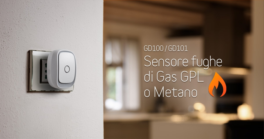 Sensore domotico GPL Metano IOT GD100-GD101