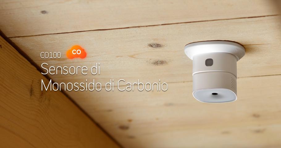 Sensore domotico monossido di carbonio IOT CO100