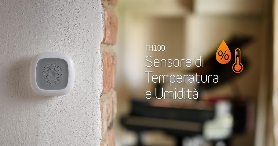 Sensore domotico temperatura umidità TH100