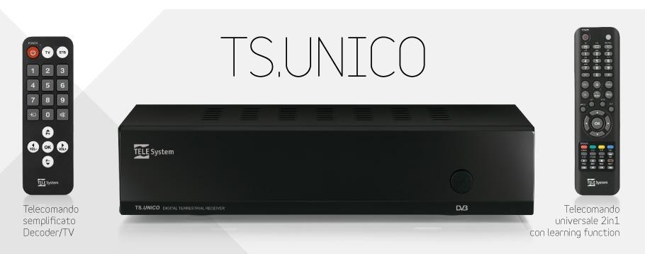TS.UNICO: decoder con due telecomandi
