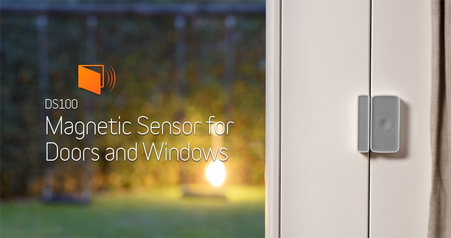 Magnetic sensor for doors and windows