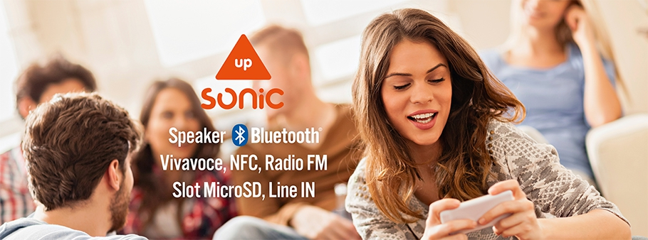SONIC up: speaker Bluetooth, con NFC, Vivavoce, Radio FM, slot Micro SD