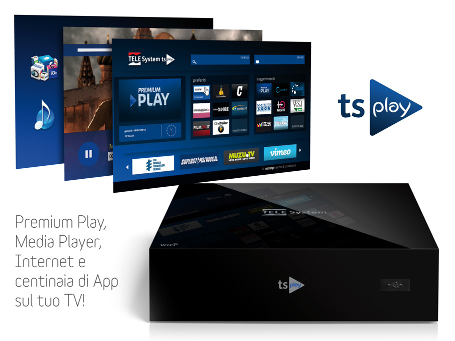 tsPlay: Premium Play, Media Player, Internet e centinaia di App sul tuo TV!