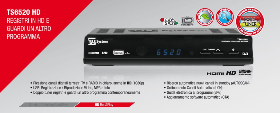 TS6520: registri in HD mentre guardi un altro programma