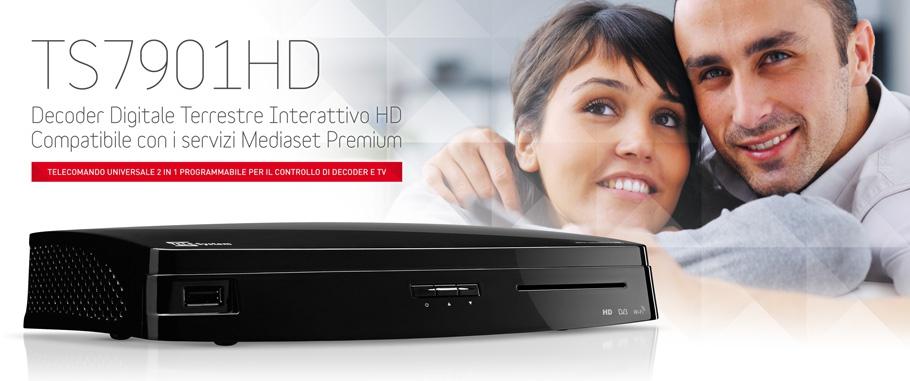 TS7901HD Decoder Digitale Terrestre WiFi HD Compatibile Mediaset Premium