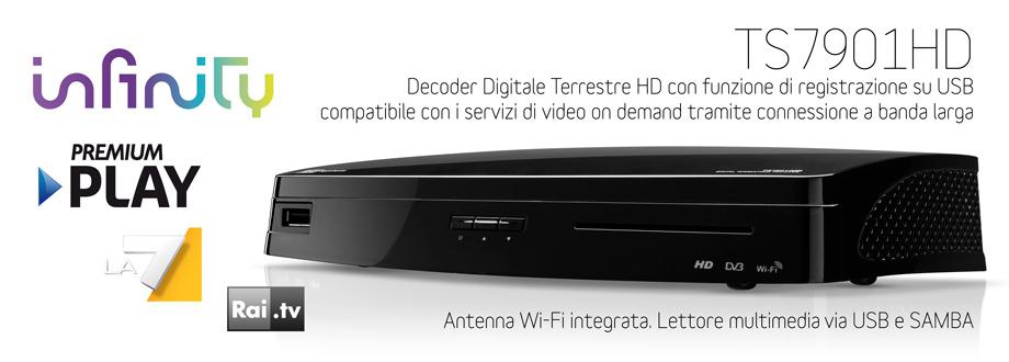 Ts7901hd il decoder che stavi aspettando tele system for Premium on demand