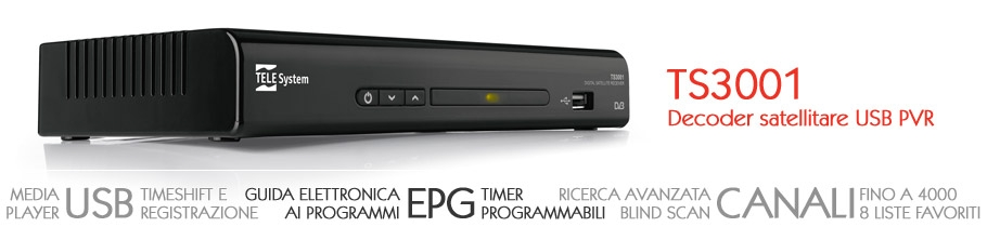 Decoder sat tv TS3001 USB PVR